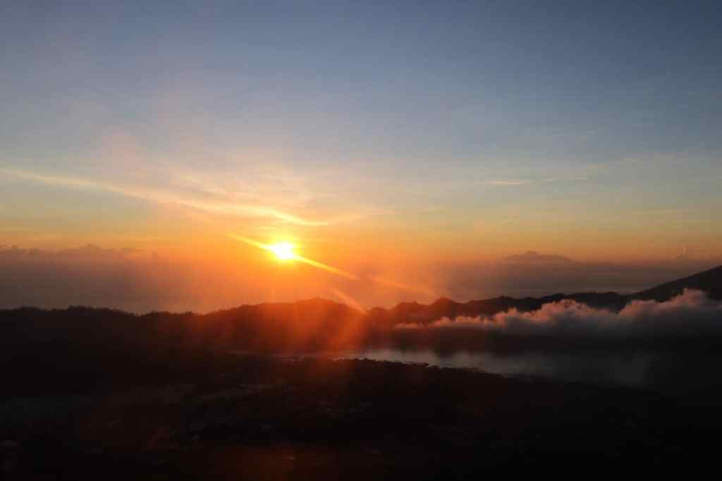 Ending in mesmerizing beauty : Mount Batur sunrise trekking