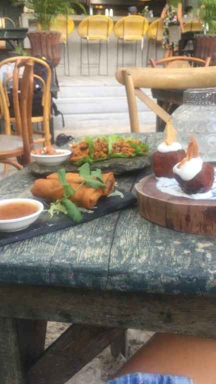 Tapas and croquetas on a table