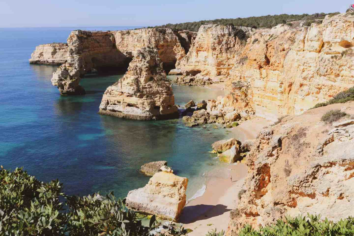 Praia da Marinha, best beach in Algarve Portugal