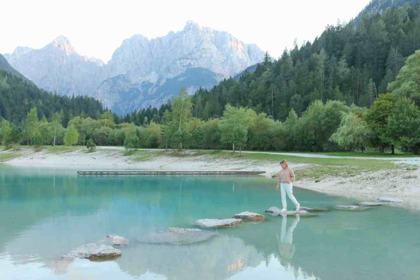 Lake Jasna the most beautiful lake in slovenia