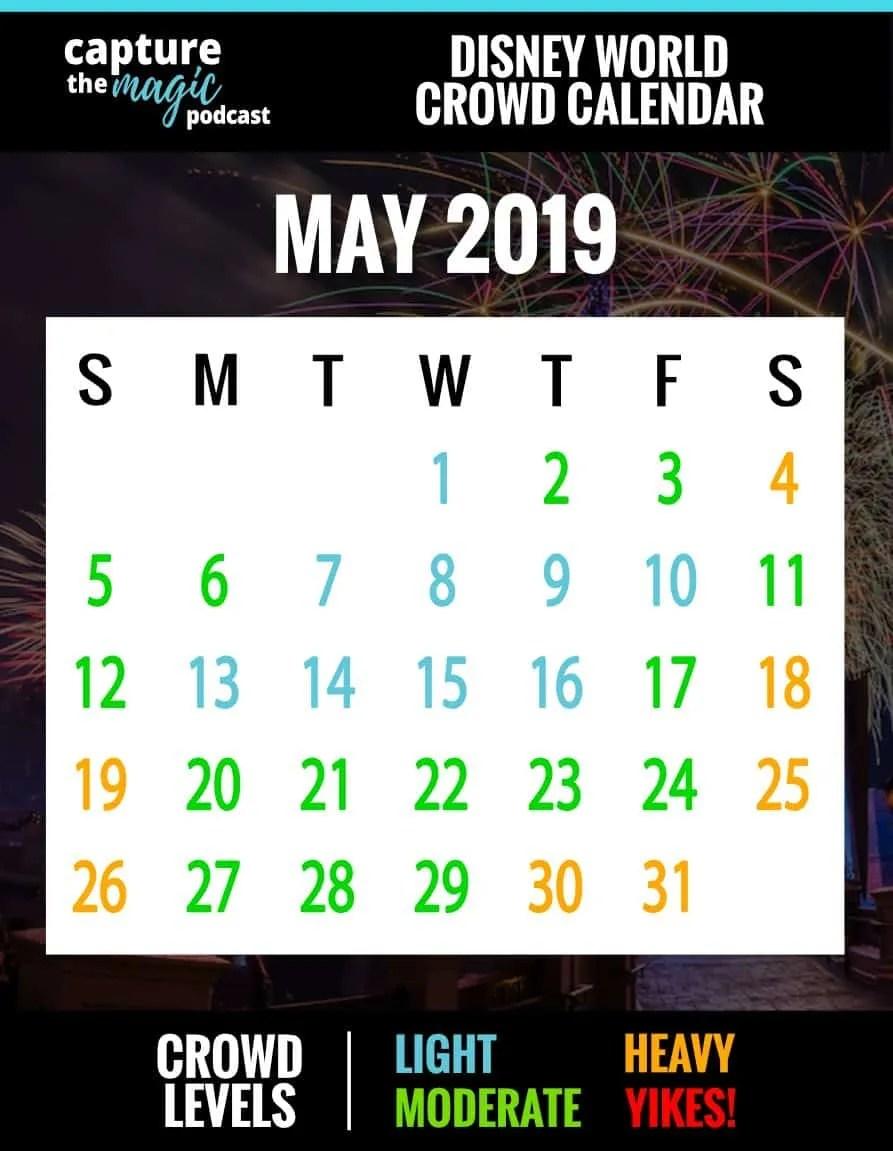 Disney World Crowd Calendar For 2018 & 2019 | Capture The Magic Podcast