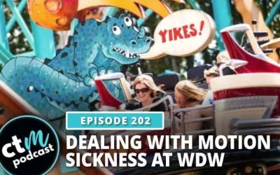 Ep 202: Dealing with Motion Sickness at Disney World