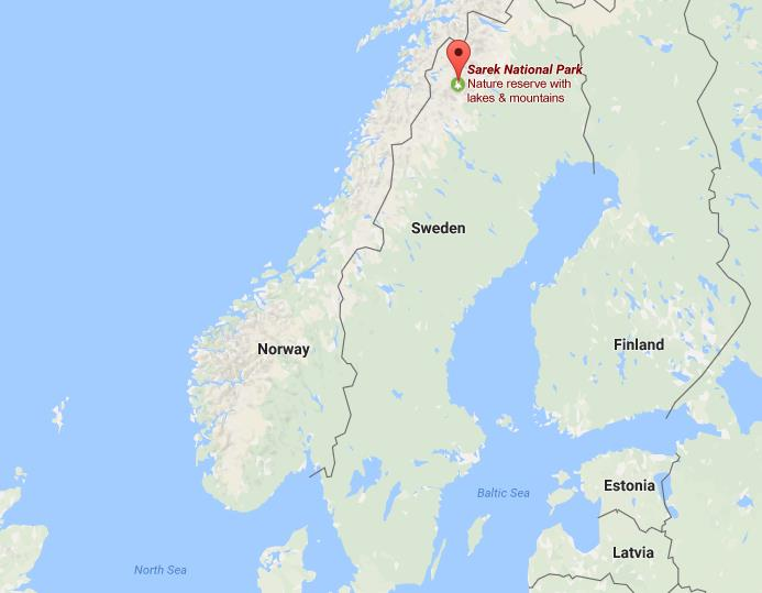 Sarek National Park Capturing The Wild - Sweden map mountains
