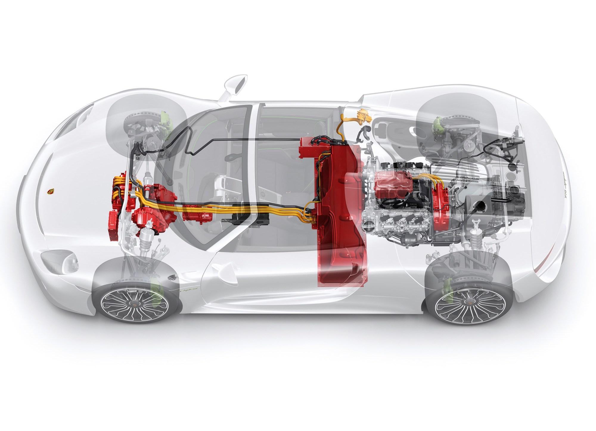 hight resolution of porsche 918 spyder plug in hybrid components