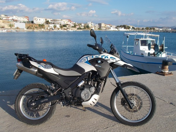RENT A SERTAO RENT A BMW F 700GS Stalis, Stalis motorcycle hire, rent a motor bike Stalis resort