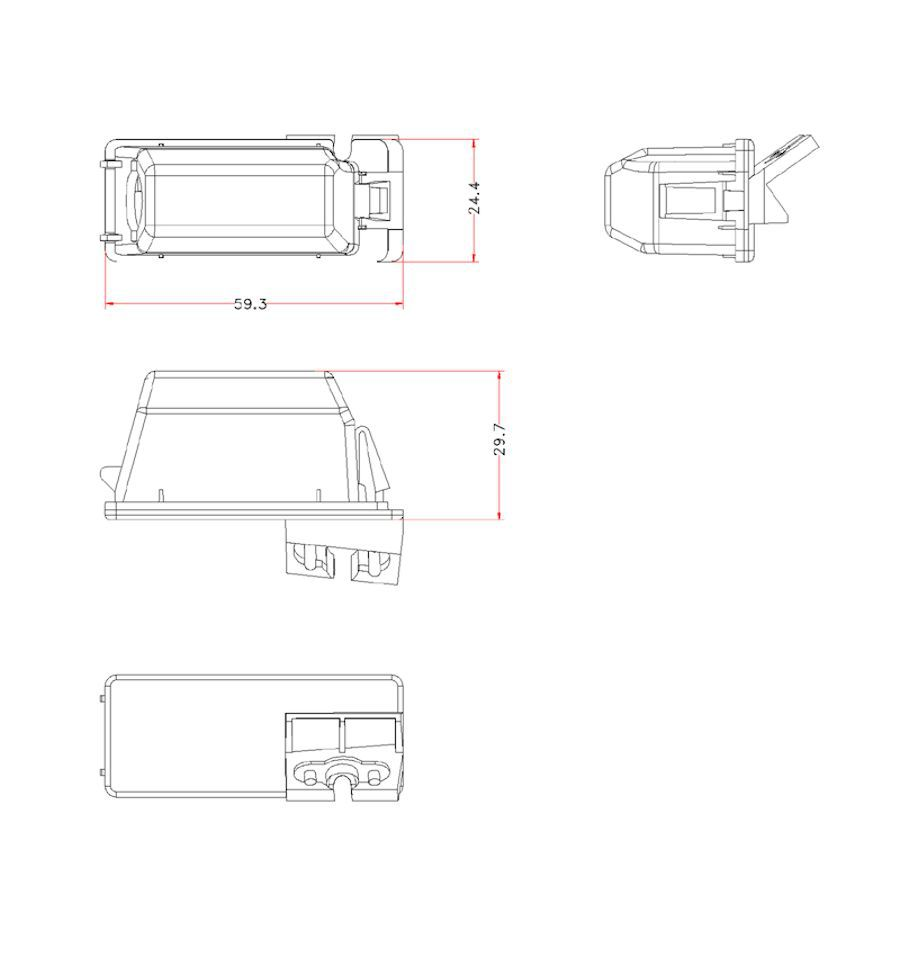 Retrocamera su luce targa con linee guida per Ford CI-VSC