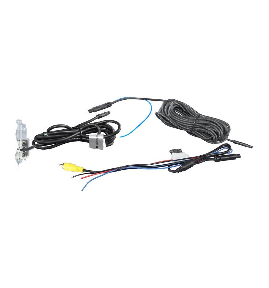 Skoda Retrocamera integrata alla luce targa con linee