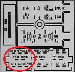 Volkswagen 8 Pin Iso Interfaccia Vivavoce Bluetooth E