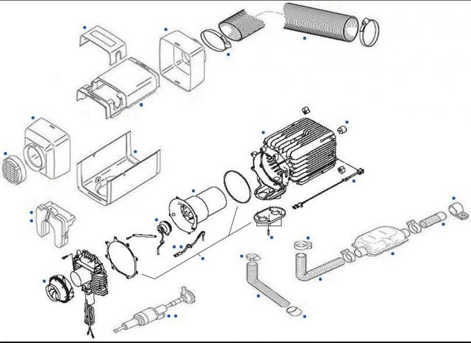 5KW 12 Volt Diesel Truck Cab Heater Similar To Webasto AT 3500
