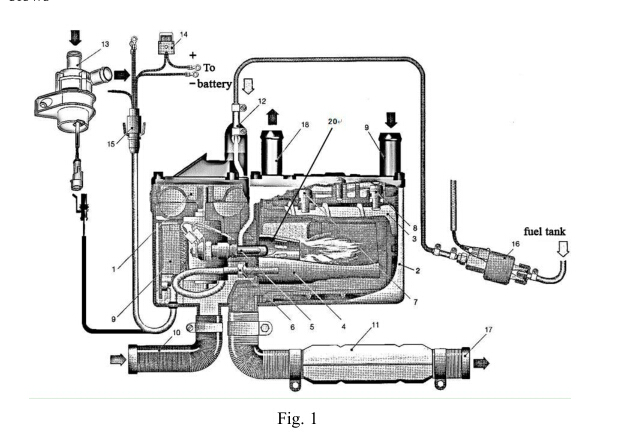 Quiet Space Marine Diesel Heater Preheating The Car