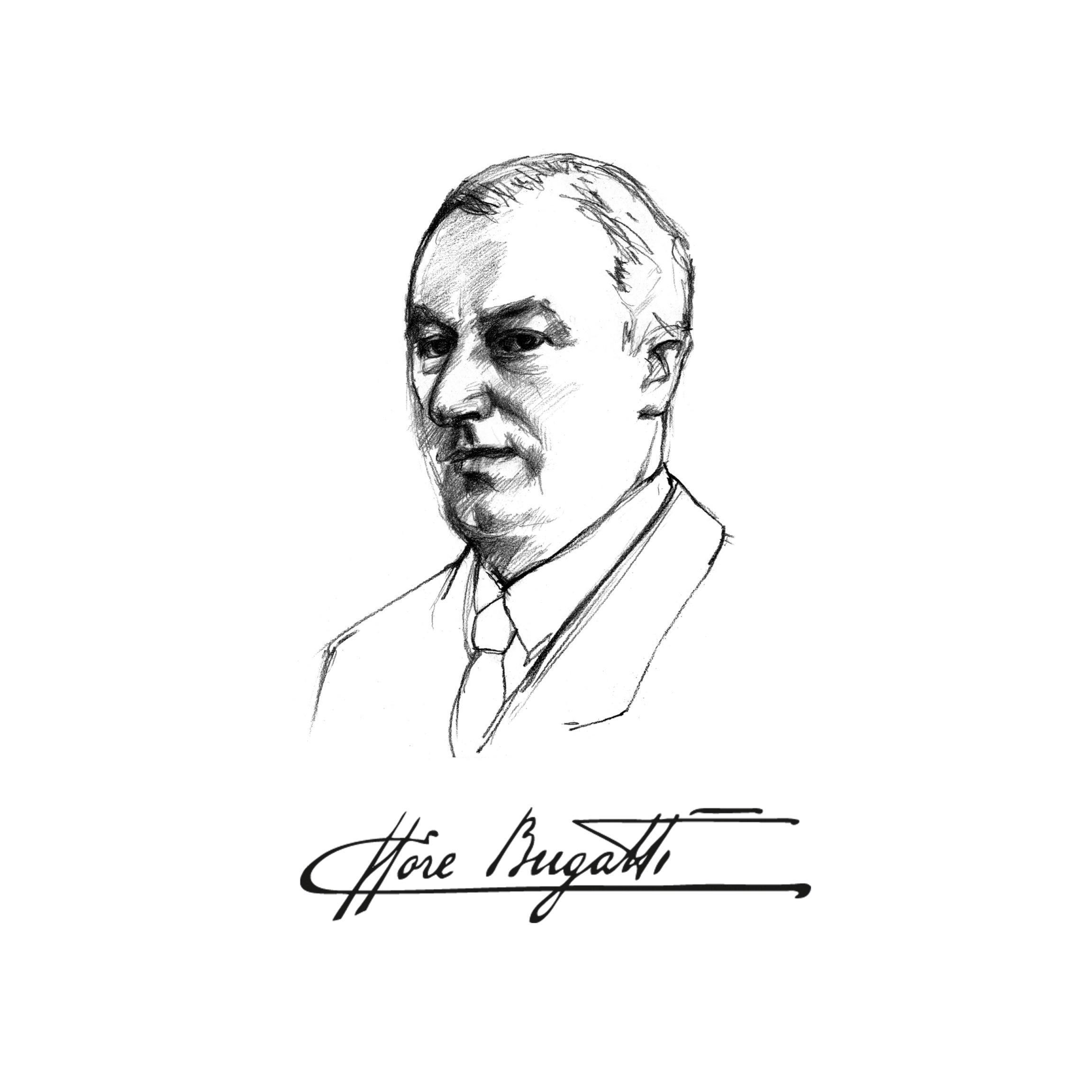 014 Ettore Bugatti Design Sketch