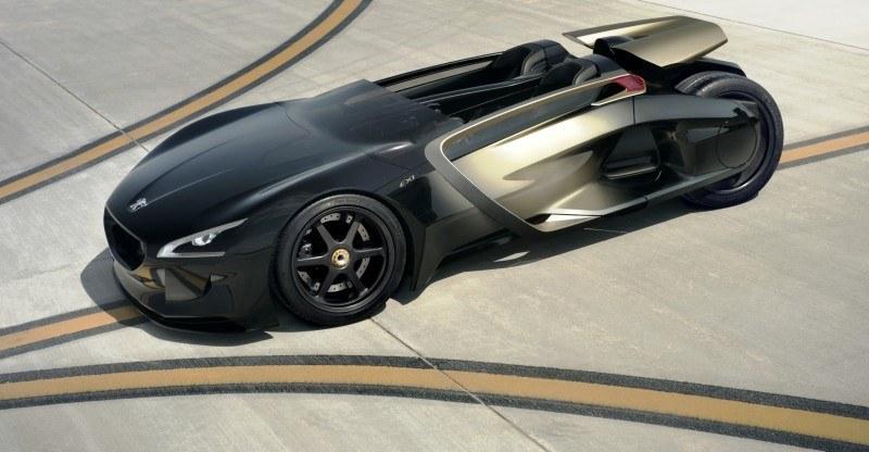 2011 Peugeot EX1 is Part EV, Part Quad-Bike and Part Track-Day Supercar 2
