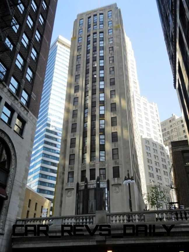 Auto Landmark Chicago Motor Club  Vacant Art Deco Highrise