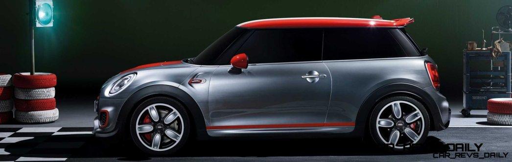 2015 MINI Cooper JCW Concept Brushed-Alloy Paints Hot Bod 14