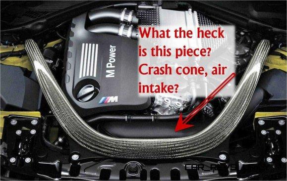 BMW M4 Carbon intake detail