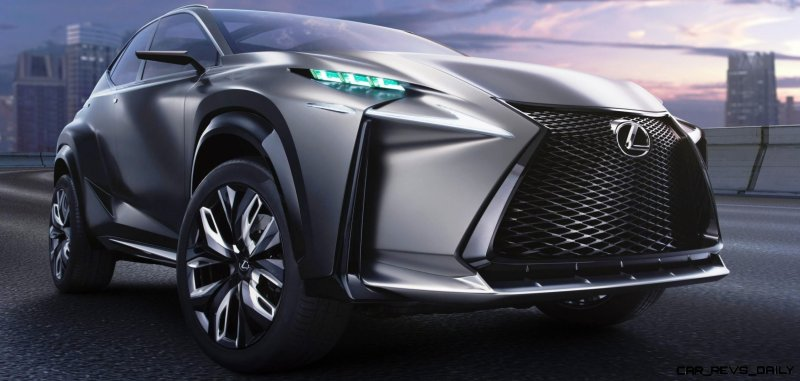 Fascinating LF-NX Turbo Concept Previews Exciting New Surfaces7