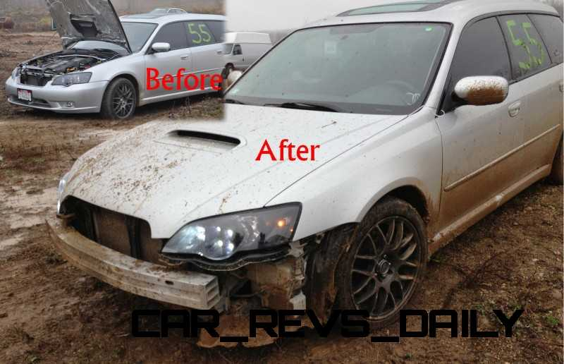 LGT off-road damage before and after