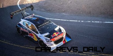 Sebastien Loeb Performs during the test session with the Peugeot 208 T16 pikes peak in Colorado, USA, on June 9th, 2013