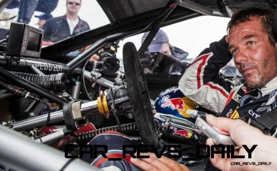 Sebastien Loeb on arrival of the Pikes Peak international hill climb race with the Peugeot 208 T16 pikes peak in Colorado, USA, on June 30th, 2013