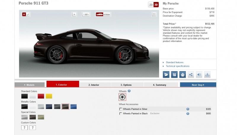 2014 Porsche 911 GT3 All Colors  14