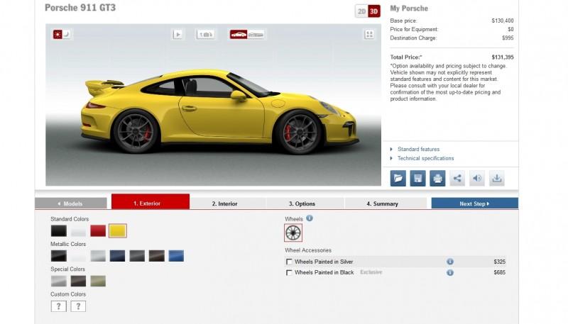 2014 Porsche 911 GT3 All Colors  5
