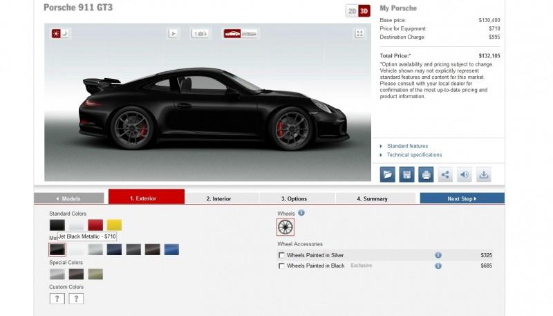2014 Porsche 911 GT3 All Colors  9