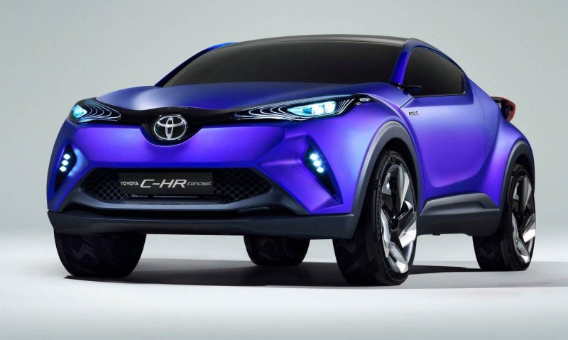 2014 toyota c hr concept for paris previews yaris crossover