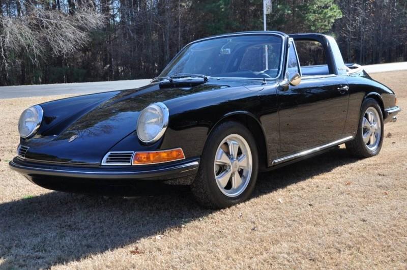Black 1967 Porsche 911S Soft Window TARGA for sale in Raleigh NC 13