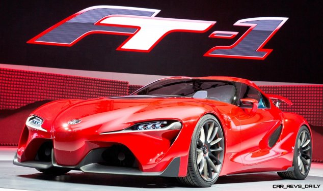 Toyota reveals the FT-1 sports car concept at the North American International Auto Show in Detroit, Monday, January 13, 2014