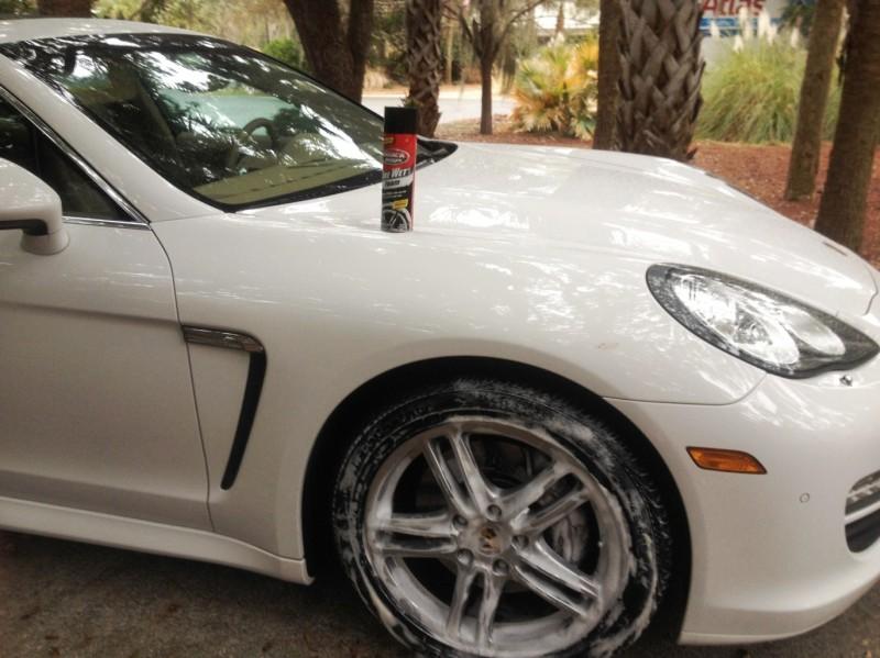 Car-Revs-Daily.com Recommends - Black Magic Tire Foam - Porsche Panamera S 18
