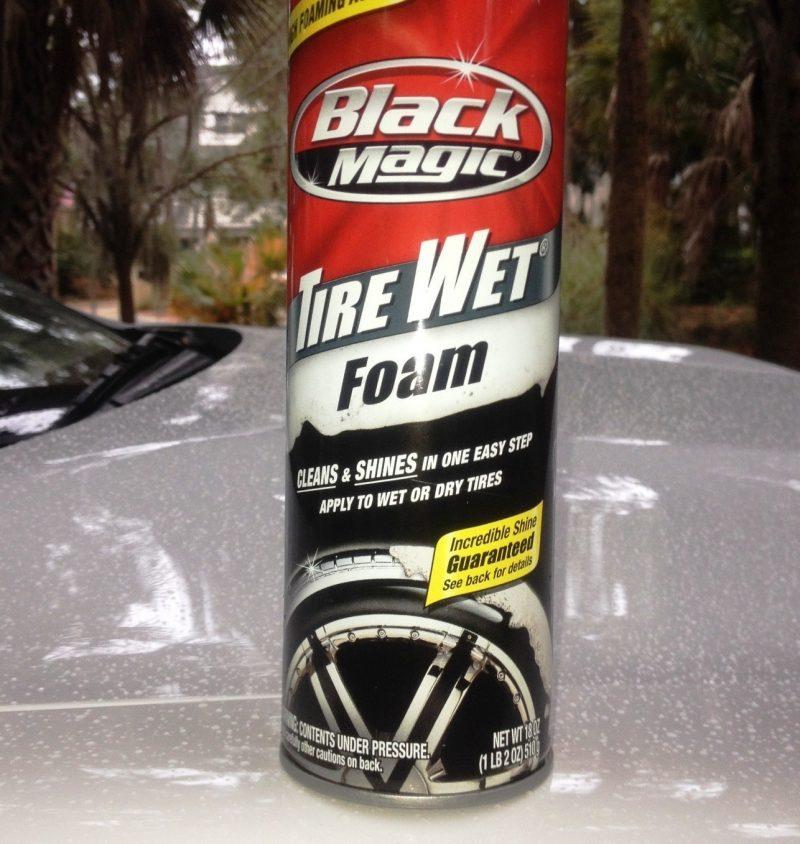 Car-Revs-Daily.com Recommends - Black Magic Tire Foam - Porsche Panamera S 19