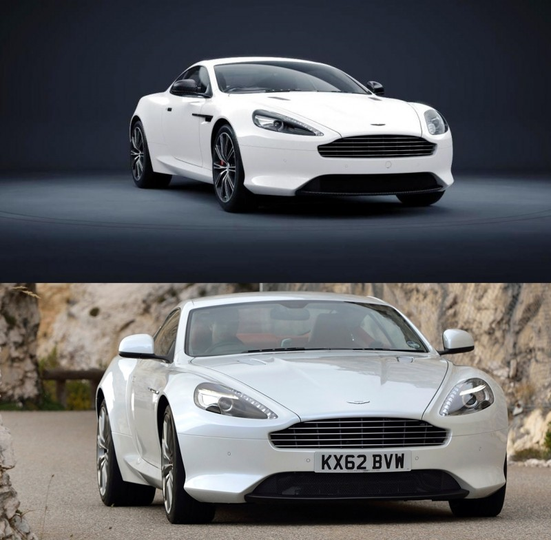 Caption -- DB9 Carbon White versus standard DB9