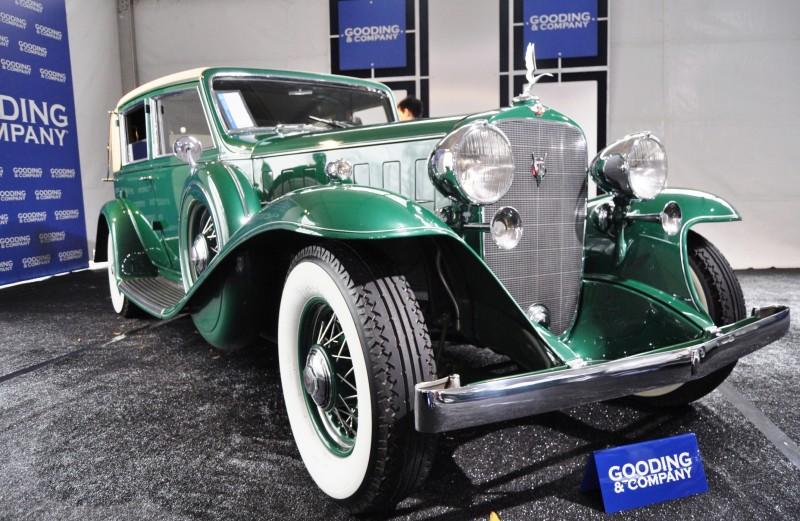 1932 Cadillac V-16 452B Madame X Imperial Sedan -- Gooding & Co. Amelia Island 2014 -- Sold for $264k 26