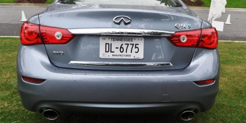2014 INFINITI Q50S AWD Hybrid -- 1080p HD Road Test Videos & 50 Photos -- AAA+ Refinement and Truly Authentic Steering -- An Excellent BMW 535i Competitor 9