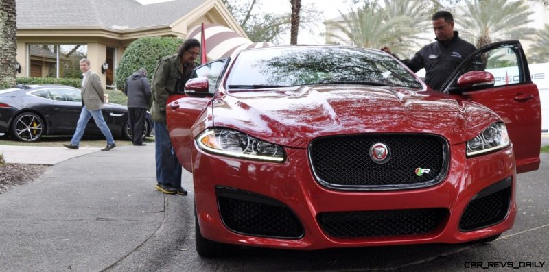 2014 JAGUAR XFR -- Driving Review with Full-Throttle Rolling Sprint + Exhaust Bellow 2