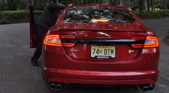 2014 JAGUAR XFR -- Driving Review with Full-Throttle Rolling Sprint + Exhaust Bellow 9
