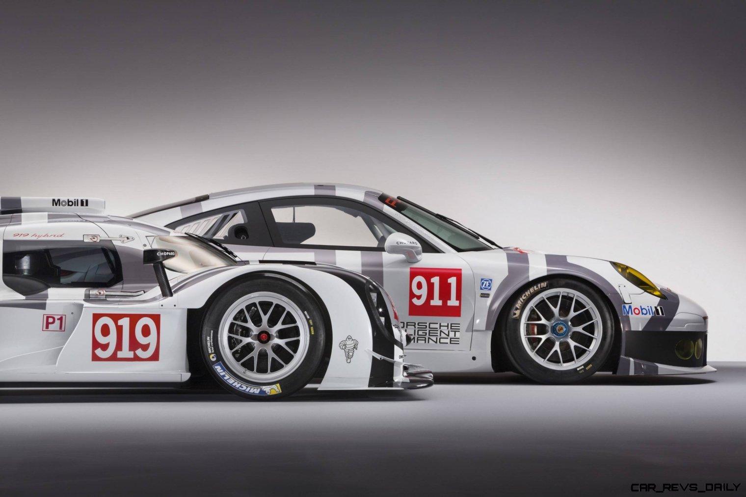 2014 Porsche Motorsport Worldwide- 919 Hybrid-911 RSR Nose Profile