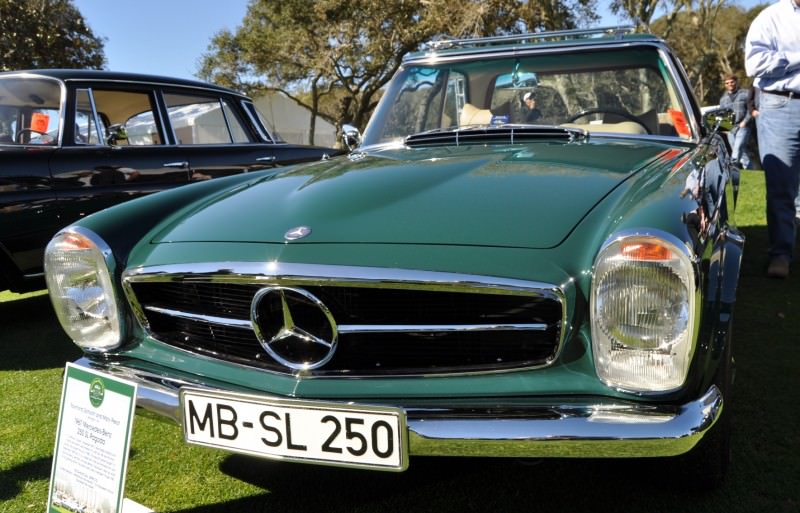 Amelia Concours -- Marque Showcases -- Mercedes-Benz 219 Peking-to-Paris, 220SE (Coupe), 250SL Pagoda and Even 500E HAMMER 24