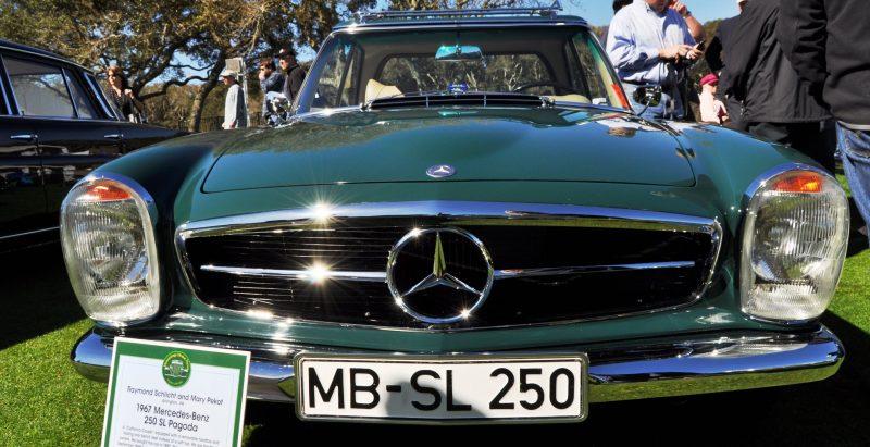 Amelia Concours -- Marque Showcases -- Mercedes-Benz 219 Peking-to-Paris, 220SE (Coupe), 250SL Pagoda and Even 500E HAMMER 25