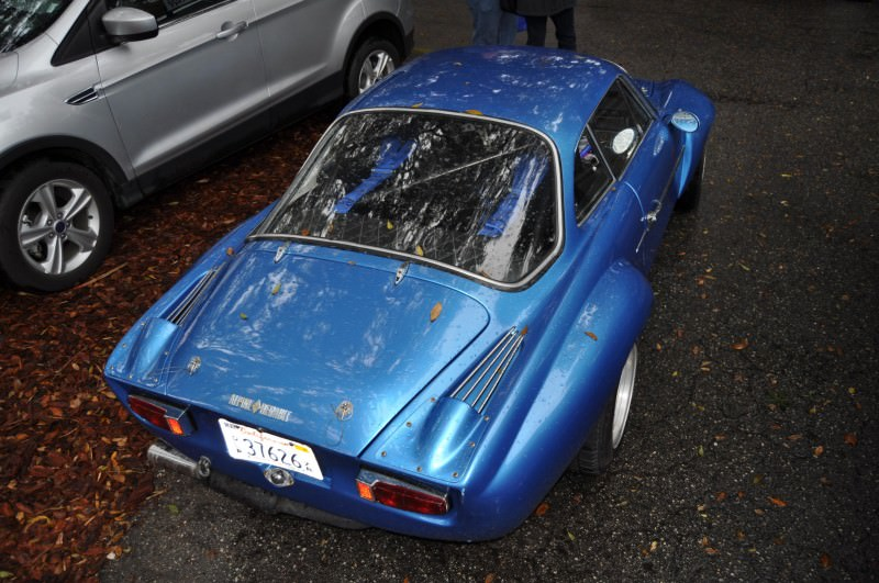 Amelia Parking Lot Finds -- ~1960s (Renault) Alpine A110 -- On Cali Plates, Passenger Seat Full of Suitcases 14