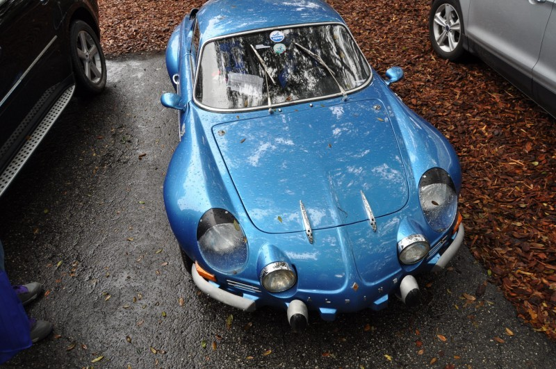 Amelia Parking Lot Finds -- ~1960s (Renault) Alpine A110 -- On Cali Plates, Passenger Seat Full of Suitcases 9