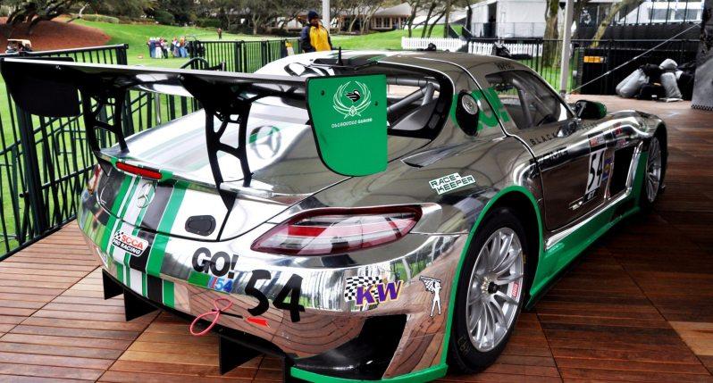 Black Swan SLS AMG GT3 In Detail -- Incredibly Fascinating Aerodynamic Solutions Under Disguise Mirror Wraps 19