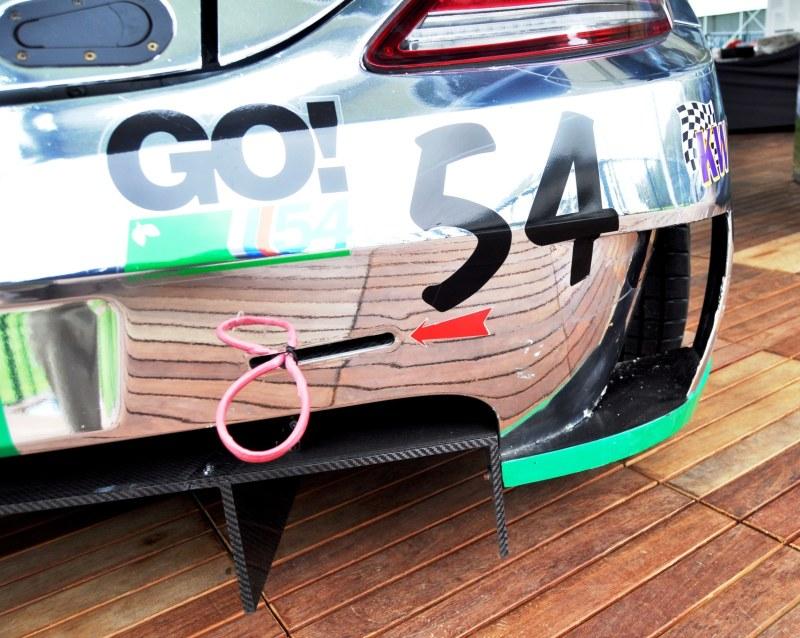 Black Swan SLS AMG GT3 In Detail -- Incredibly Fascinating Aerodynamic Solutions Under Disguise Mirror Wraps 22