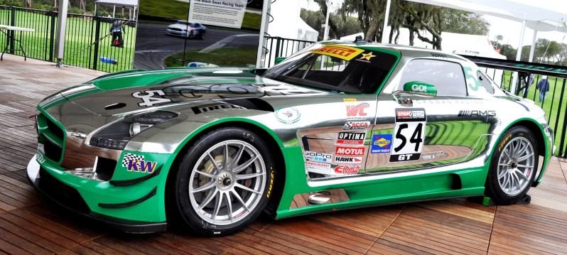Black Swan SLS AMG GT3 In Detail -- Incredibly Fascinating Aerodynamic Solutions Under Disguise Mirror Wraps 9