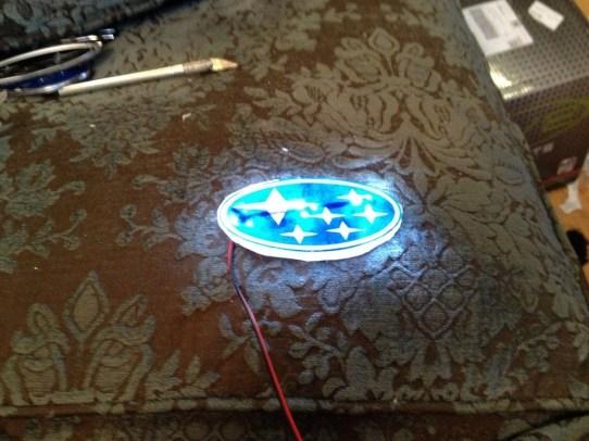 DIY LED Subaru stars emblem_8159090377_l