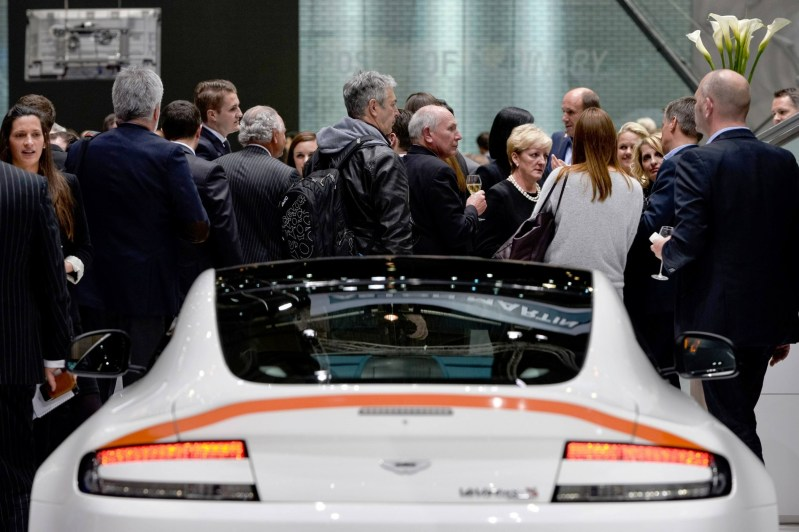 Geneva 2014 ShowFloor Gallery -- Aston Martin Rapide S and Vantage S V12 Wearing N420-Inspired Livery 1