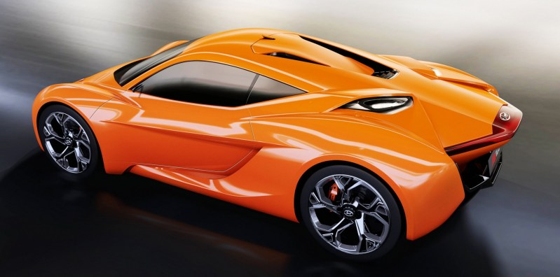 Hyundai PassoCorto Sports Car Is Torino Design Vision Come to Life!  Innovative Folded Surfacing + Hidden Cameras Replace Rear Glass 6