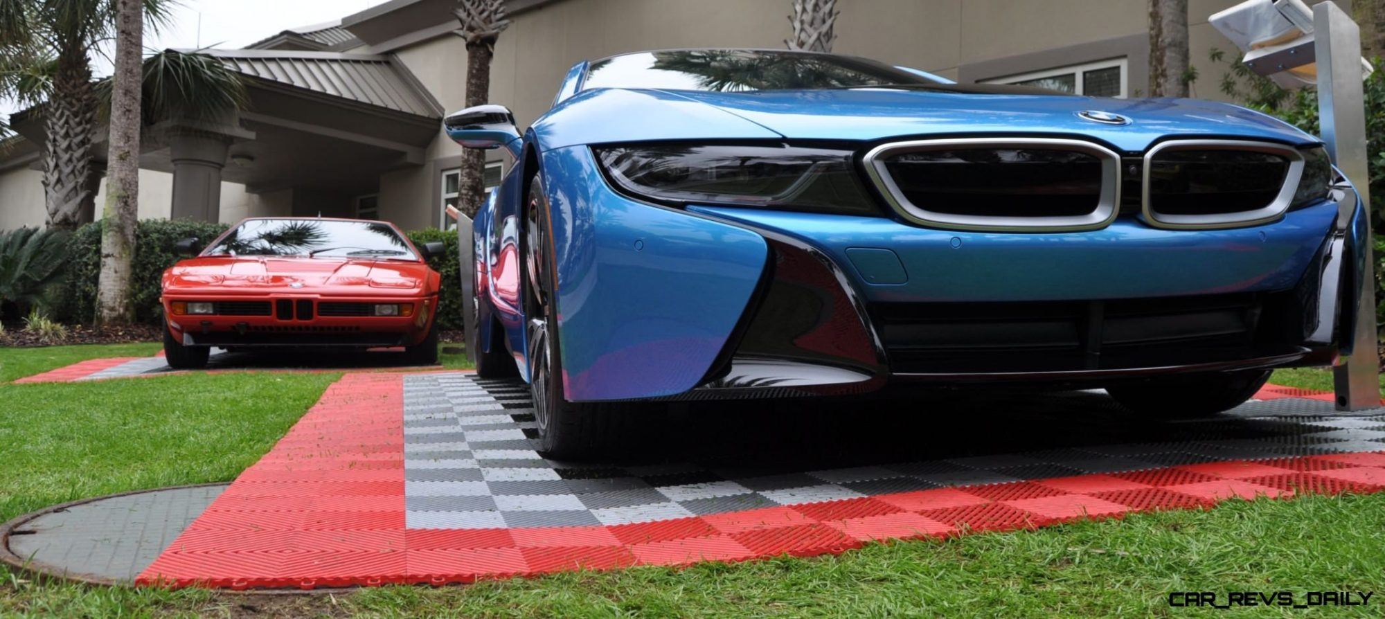 Inimitable Future-Tech 2015 BMW i8 Feeling Chummy with Concept M4 and 1980 BMW M1 -- Fleming Flashbacks 20