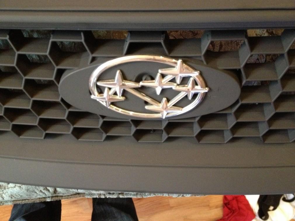 subaru DIY LED badge - indoor testing - emblem comparisons_8072295368_l