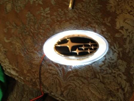 subaru DIY LED badge - indoor testing - emblem comparisons_8072296603_l